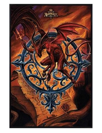 Gloss Black Framed Astrolabeus - Alchemy Gothic