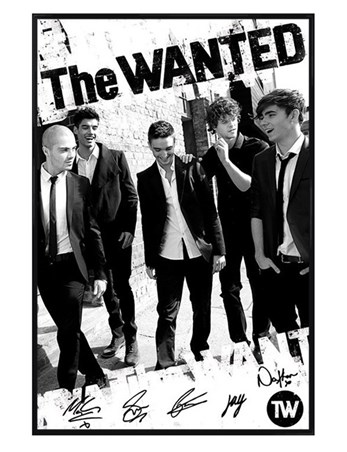 Gloss Black Framed Boys in Black and White - The Wanted