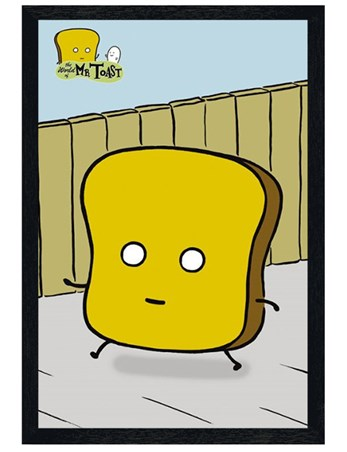Black Wooden Framed Mr Toast - The Imaginary World