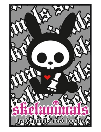 Gloss Black Framed Jack the Rabbit - Skelanimals