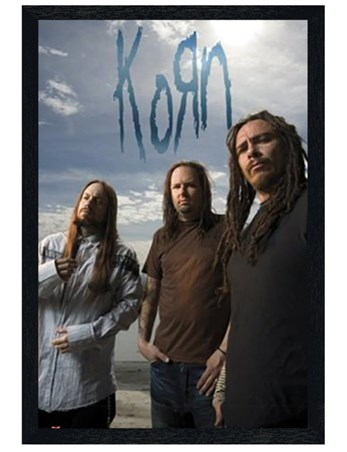 Black Wooden Framed Korn -