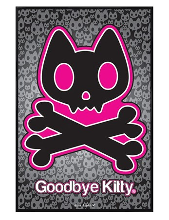 Gloss Black Framed Goodbye Kitty - David & Goliath