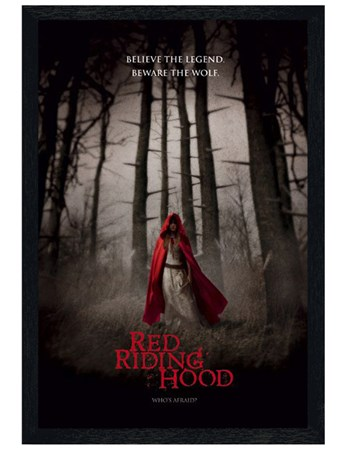 Framed Black Wooden Framed Believe the Legend - Red Riding Hood
