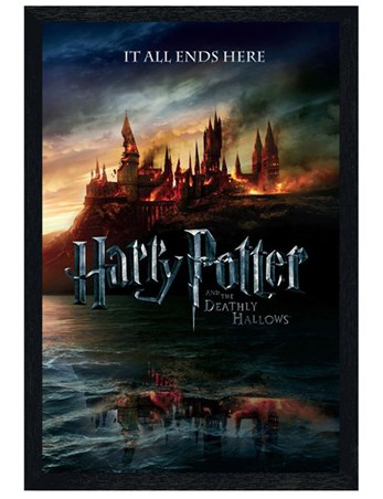 Framed Black Wooden Framed The End of an Era - Harry Potter and the Deathly Hallows