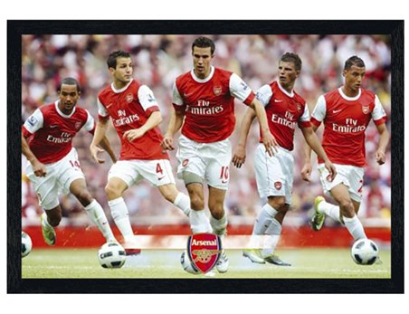 Framed Black Wooden Framed The Gunners Star Players - Arsenal Football Club
