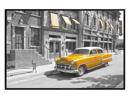 Gloss Black Framed Yellow Cab in Manhattan - New York