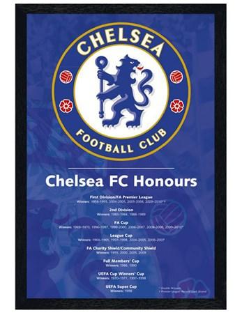 Black Wooden Framed Chelsea Honours - Chelsea Football Club