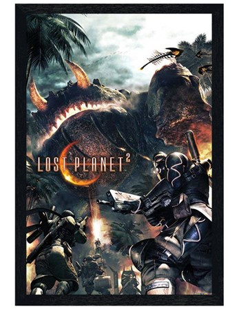 Black Wooden Framed The Lost Planet 2 - The Lost Planet