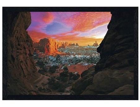 Black Wooden Framed Utah Canyon - Grand Canyon