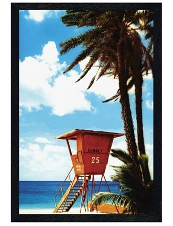 Black Wooden Framed Lifeguard Hut - Paradise