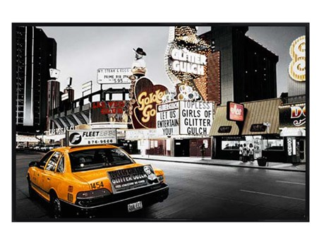 Gloss Black Framed Glitter Gulch - Streets of Vegas