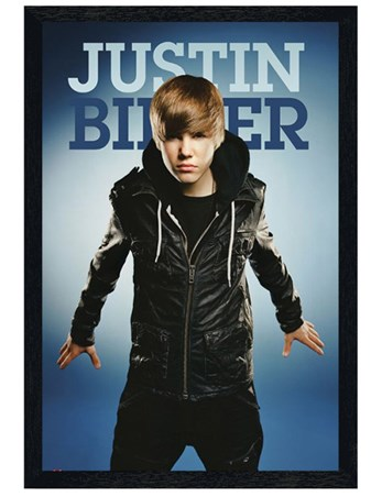 Black Wooden Framed Get the Fever! - Justin Bieber
