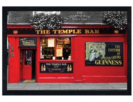 Black Wooden Framed The Temple Bar - Dublin