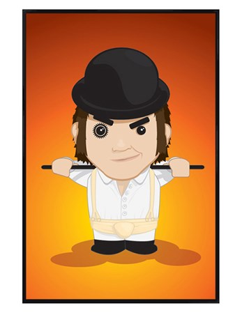 Framed Gloss Black Framed Cartoon Alex - A Clockwork Orange