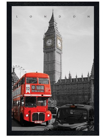 Black Wooden Framed Driving Past Big Ben - Westminster View