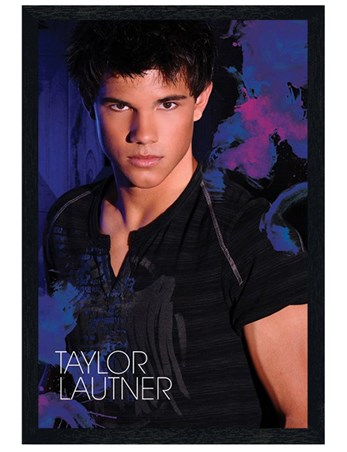 Black Wooden Framed Brooding in Blue - Taylor Lautner