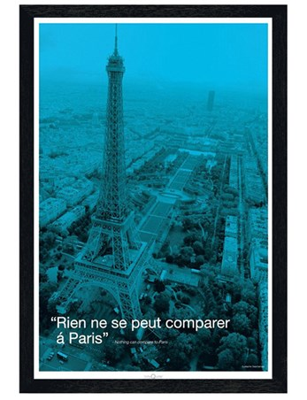 Black Wooden Framed Nothing can compare to Paris - Paris