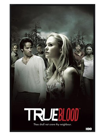 Gloss Black Framed True Blood Montage - Thou Shall Not Crave Thy Neighbour