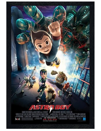 Black Wooden Framed Astro Boy - US Cinema Poster