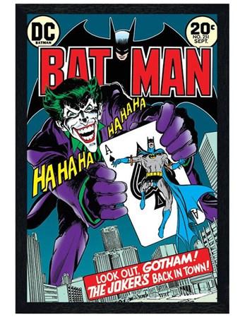 Black Wooden Framed The Joker S Back In Town Batman Dc