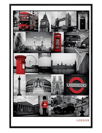 Gloss Black Framed The Iconic Images of London - London, England