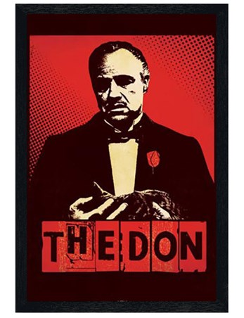 Black Wooden Framed The Don - The Godfather