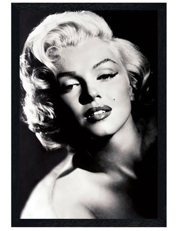 Black Wooden Framed Glamour - Marilyn Monroe