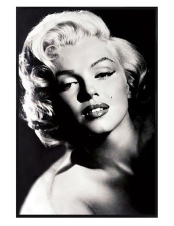 Gloss Black Framed Glamour - Marilyn Monroe
