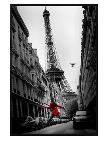 Gloss Black Framed La Veste Rouge - City Photography