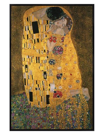 Gloss Black Framed The Kiss - Gustav Klimt