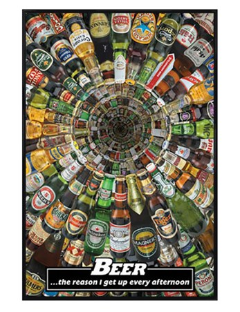 Gloss Black Framed Beer – The Reason Why I Get Up Every Afternoon! - Beers of the World