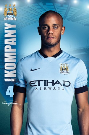 Framed Vincent Kompany - Manchester City Football Club