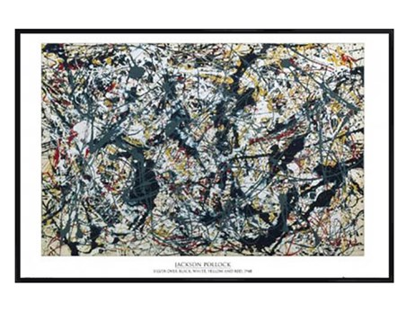 Gloss Black Framed Silver on Black - By Jackson Pollock