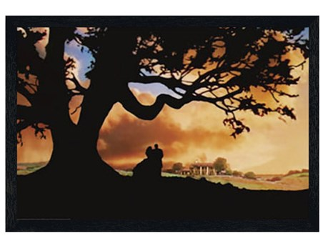 Black Wooden Framed Silhouette - Gone With The Wind