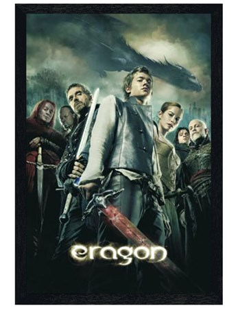 Black Wooden Framed Eragon Movie One Sheet - Eragon