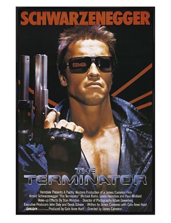 Gloss Black Framed Arnold Schwarzenegger is The Terminator - The Terminator