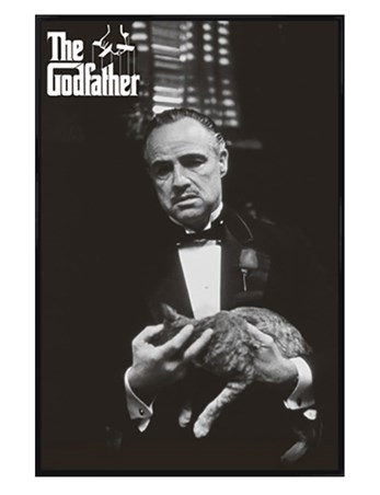Gloss Black Framed Marlon Brando as Vito Corleone - The Godfather