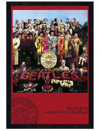 Black Wooden Framed Sgt. Pepper's Lonely Hearts Club Band - The Beatles
