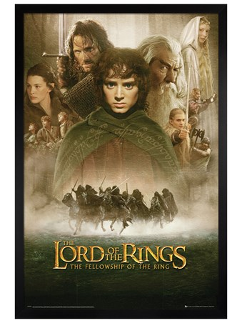 Black Wooden Framed The Fellowship of The Ring Movie Score - Lord of the Rings - The Fellowship of the Ring