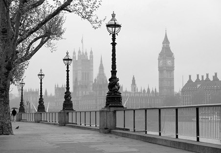 London Fog - 8 Sheet Cityscape Wall Mural
