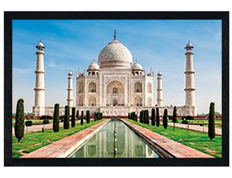 Black Wooden Framed Taj Mahal - India