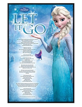 Gloss Black Framed Let It Go - Footprints - Disney's Frozen