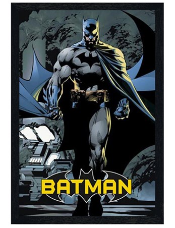 Black Wooden Framed Batman - DC Comics