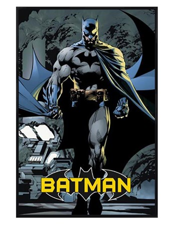 Gloss Black Framed Batman - DC Comics