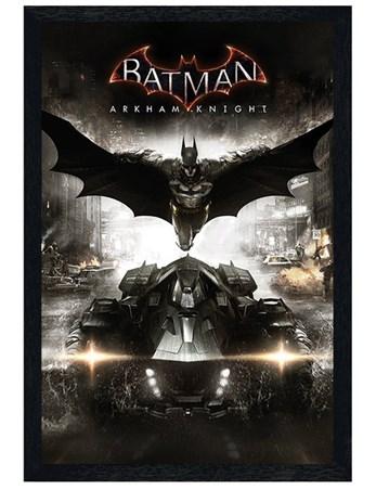Black Wooden Framed Arkham Knight - Batman