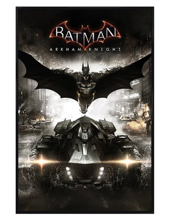 Gloss Black Framed Arkham Knight - Batman