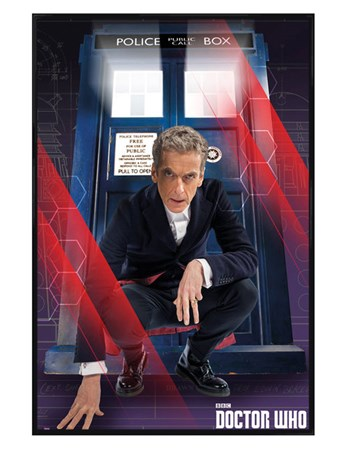 Gloss Black Framed The Doctor and The Tardis - Dr Who