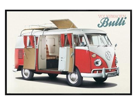 Gloss Black Framed Bulli - VW Camper