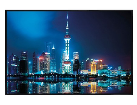 Gloss Black Framed Shanghai China - City of Lights