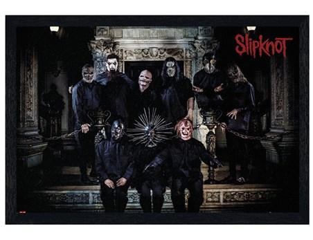 Black Wooden Framed Slipknot Band Line Up - Masked Musicians